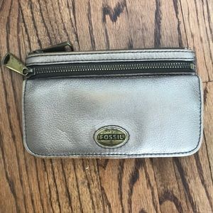 Metallic Fossil Wallet clutch